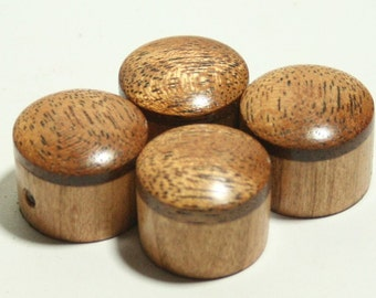 Set of 4 Cherry Guitar Knobs with African Mahogany Cap (13/16 dia x 11/16 height)