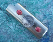 Lighter Case with Buffalo Nickel and Red Coral
