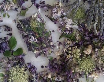 Lilac, Lavender, Rose Leaves, Centerpieces,Confetti, Dry Flowers, Wedding Favor, Petals, Favor, Pillow Boxes,  Potpourri, Tossing Flowers