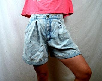 Vintage 80s Denim Light Wash Shorts by Match Jeans