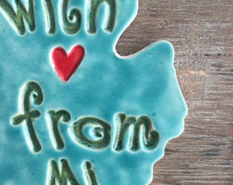 With Love From Michigan Ornament