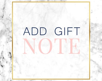 ADD A GIFT NOTE