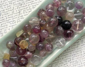 Fluorite Stone Beads 60% off, qty 66
