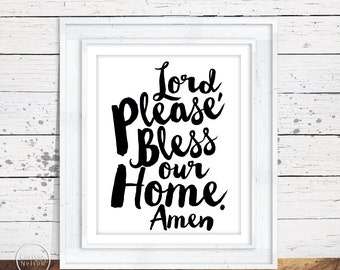 Bless Our Home Amen Christian Prayer Printable
