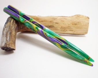 Acrylic Hair Sticks - Bourbon Street - 6 inches (15.24 cm) No 576