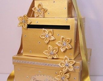 Wedding Card Box Gold Gift Card Box Money Box Holder-Customize your color