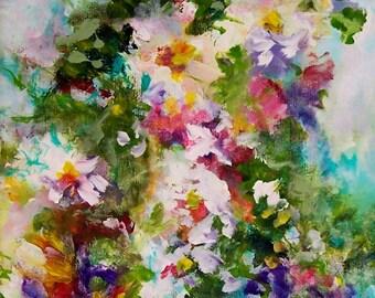 Garden Song......10x8 original worked on canvas, unframed