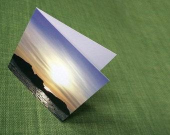 Blank card - Setting sun off Iona greeting card