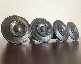 Round Vintage  Knobs or Drawer Pulls. DIY, Furniture Redo.