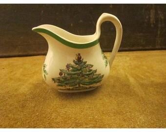 Spode Christmas Tree Creamer – 8oz. – S3324 - Vintage Christmas Spode China Hostess Piece