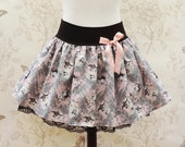 Pink and grey the villains stretch skirt