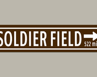 Custom Soldier Field Chicago Bears Football Sign