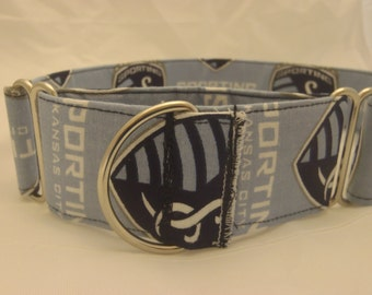 1 1/2 inch handmade side clip or martingale collar
