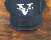 Vanderbilt University Snapback Hat, Commodores, Vintage Trucker Hat, Foam and Mesh Hat, Vintage Tennessee