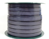 10mm Flat Leather - Steel Blue - 10F-405 - Choose Your Length