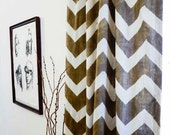 """curtains Chevron window curtains zig zag 44"""" x 108"""" printed Naturally Dyed home living decor window curtain, panel houseware *50% OFF*"""