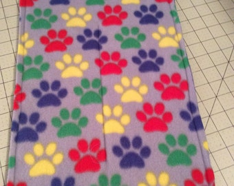 Paws Fleece Crate Mat Multi Colored