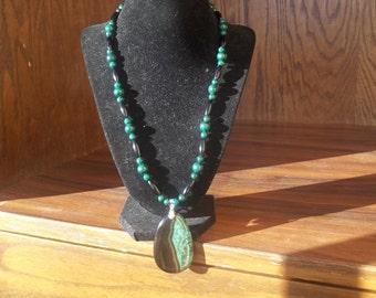 Positivity - Green Malachite and Black Onyx necklace