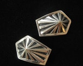 Tiny French Art Deco Shoe Buckles, Cute Set
