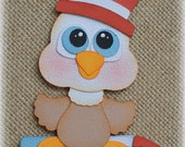 4th of July Eagle Premade Scrapbooking Embellishment Paper Piecing