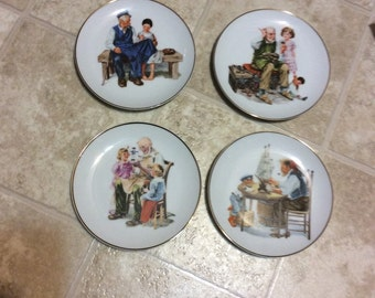 Norman Rockwell inspired plates
