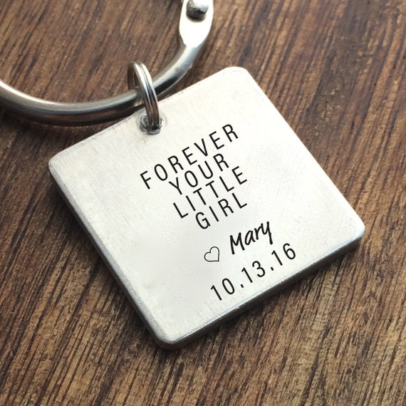 Parent Wedding Keychain Dad Wedding Gift Personalized Forever Your ...