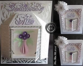 Mother's Day Bay Floral Window & Box, dxf,svg,mtc,ScanNCut,Scal,Cricut,Cameo,Silhouette,Curio,Portrait