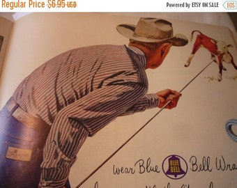 ON SALE: Vintage Ad - - Cowboy Wranglers - - 1950s original ad -