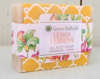 Lemon Verbena Bar of Soap - Green Daffodil