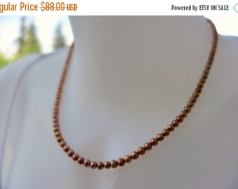 10% sale, Salmon pink freshwater pearl necklace, sterling silver, artisan quality, fine jewelry, wedding, bride jewelry
