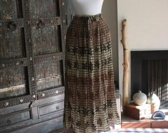 vintage India gauze hippie skirt