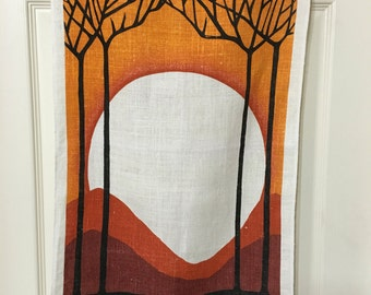 Vintage linen kitchen towel by Kay Dee