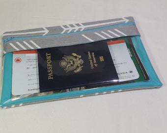 10x6 Travel Document Wallet - Long Travel Wallet - Passport Wallet - Travel Document Holder - Zipper Travel Wallet -Womens Wallet