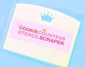 Cookie Countess Stencil Scrapers, Cookie Stencil Scrapers, Icing Scrapers, Frosting Scrapers, Royal Icing Scrapers, Cookie Countess Scrapers