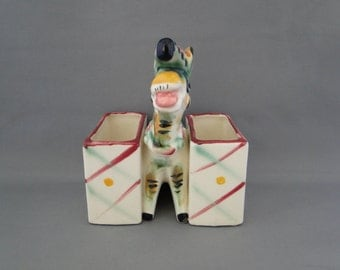 Vintage Donkey Planter Chase Pottery