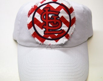 ADULT Baseball Raggy St. Louis Cardinals Red Chevron Red STL Monogrammed Hat