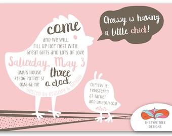 Little Chick Shower Invitation - Printable PDF or Email Evite