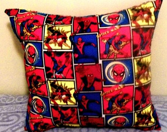 "SPIDERMAN PILLOW (one pillow), Decorative Pillow, 18"" X 18"""