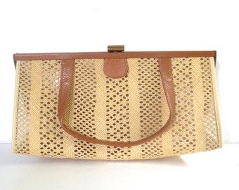 Vintage Retro Woven Handbag