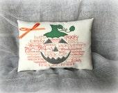 Pumpkin Word Art mini pillow