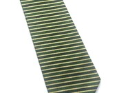 Little Guy Holiday NECKTIE Tie - Green and Gold Stripe - (2T-4T) - Boy Toddler - (Ready to Ship) St Patrick's Day