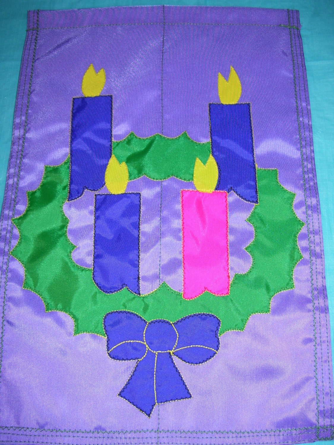 advent wreath 12 inch by 18 inch garden flag. Black Bedroom Furniture Sets. Home Design Ideas