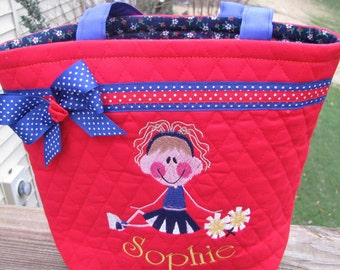 Personalized Cheerleading Tote Bag