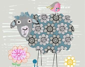 A4 Art Print- Kids Wall Art. The Sheep Botherer.