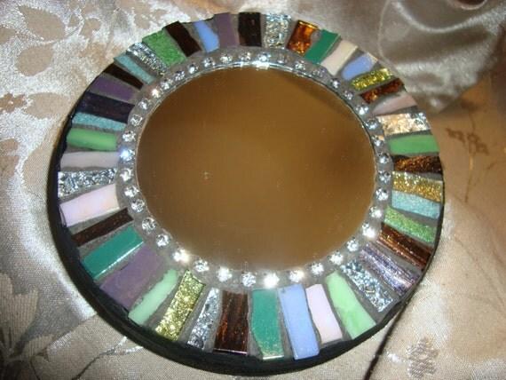 MOSAIC MIRROR Accent Mirror Small Round Mirror Wall Art