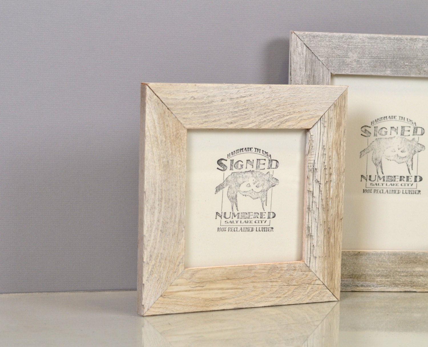 Reclaimed wood frames signedandnumbered rustic white wash reclaimed cedar picture frame choose your small frame size 3x3 35 jeuxipadfo Choice Image