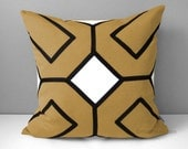 BRASS Geometric Pillow Cover, Black White, Decorative Mid Century Modern Pillow Cover, Throw Pillow Cover Sunbrella Cushion Cover, Mazizmuse