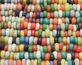 Assorted Rondelle Glass Beads 4-6mm (JV317)