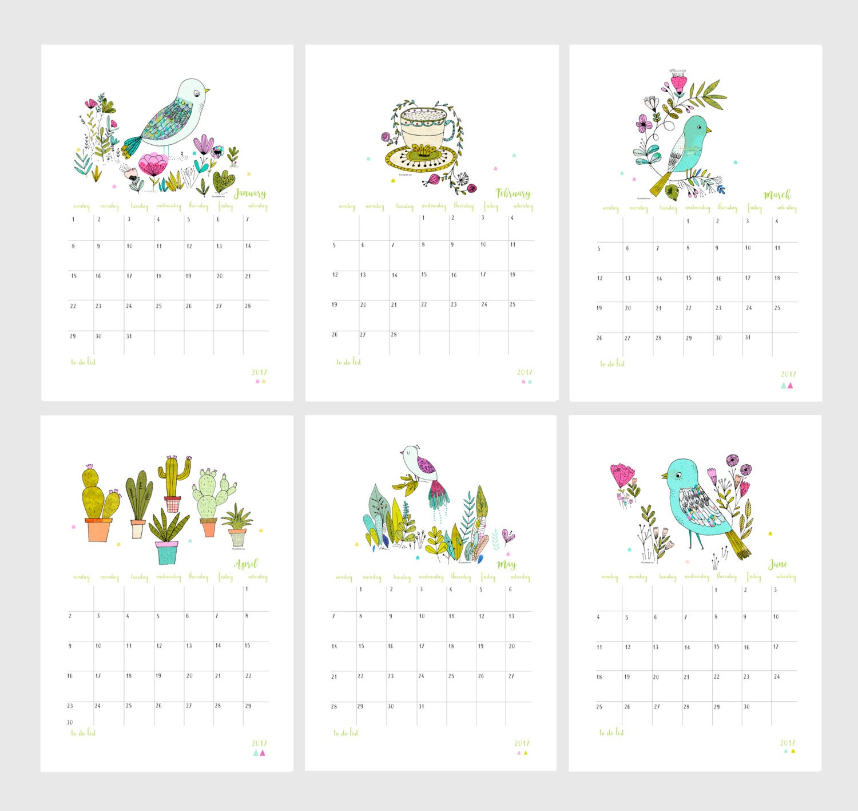 Calendrier 2017 calendrier mural 2017 calendrier 2017 avec - Grand calendrier mural ...