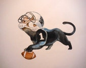 Cam Newton as a panther original painting